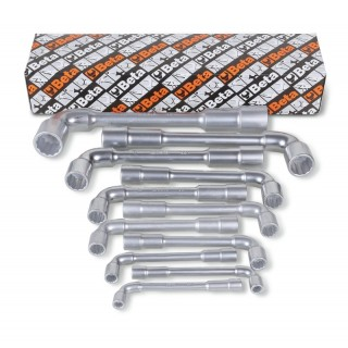 Serie per 11 chiavi a pipa doppie esagonali-poligonali (art 937) - Beta 937/S