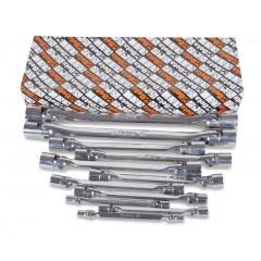 Serie di 11 chiavi a bussola poligonale snodate doppie (art. 80) - Beta 80/S