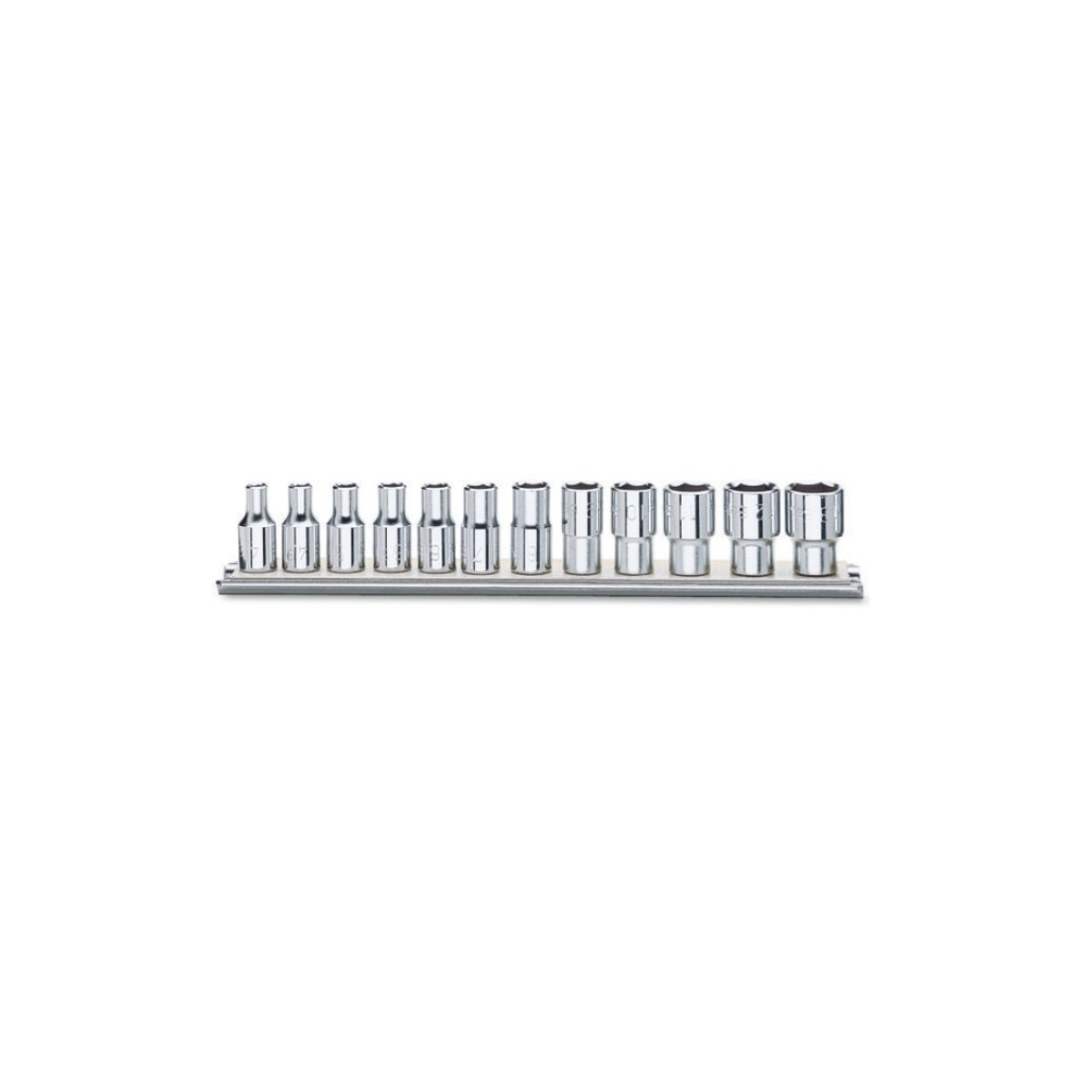 """Serie di chiavi a bussola con attacco quadro femmina 1/4"""" bocca poligonale, cromate - Beta 900MB/SB"""