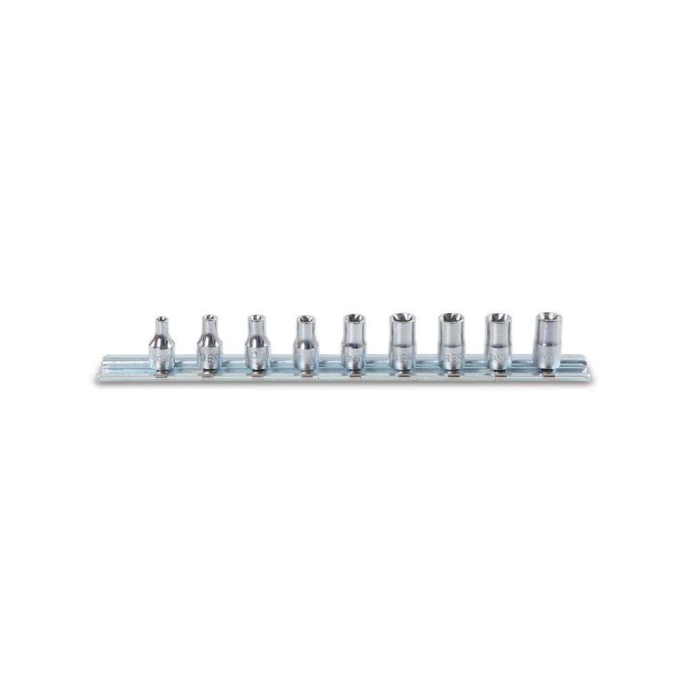 """Serie di chiavi a bussola con attacco quadro femmina 1/4"""" cromate - Beta 900FTX/SB9"""