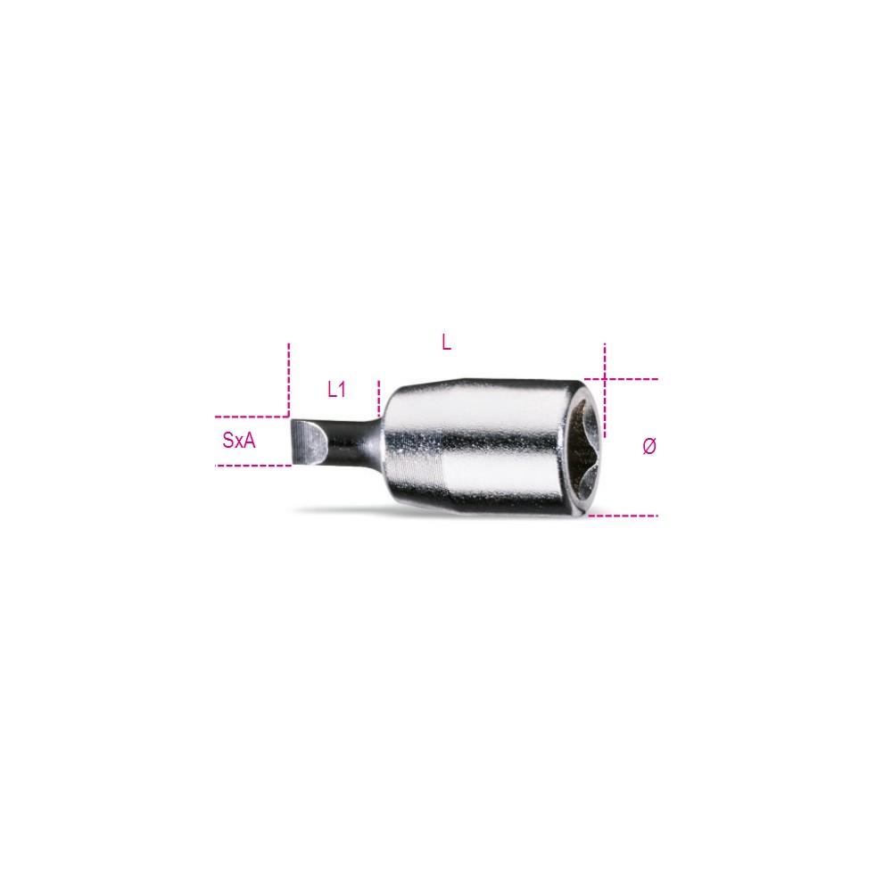 Chiavi a bussola a giravite per viti con intaglio cromate - inserti bruniti - Beta 900LP