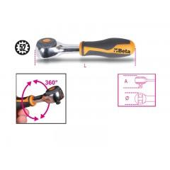 """Cliquet réversible  avec manche rotatif  et carré mâle 1/4"""" mécanisme à 52 dents - Beta 900/58"""