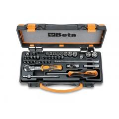 Zestaw 11 nasadek sześciokątnych, 20 końcówek wkrętakowych z akcesoriami, w pudełku metalowym - Beta 900/C11