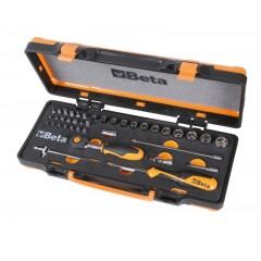 Assortimento di 11 chiavi a bussola esagonali, 20 inserti per avvitatori e 7 accessori in termoformato rigi... - Beta 900/C11HR