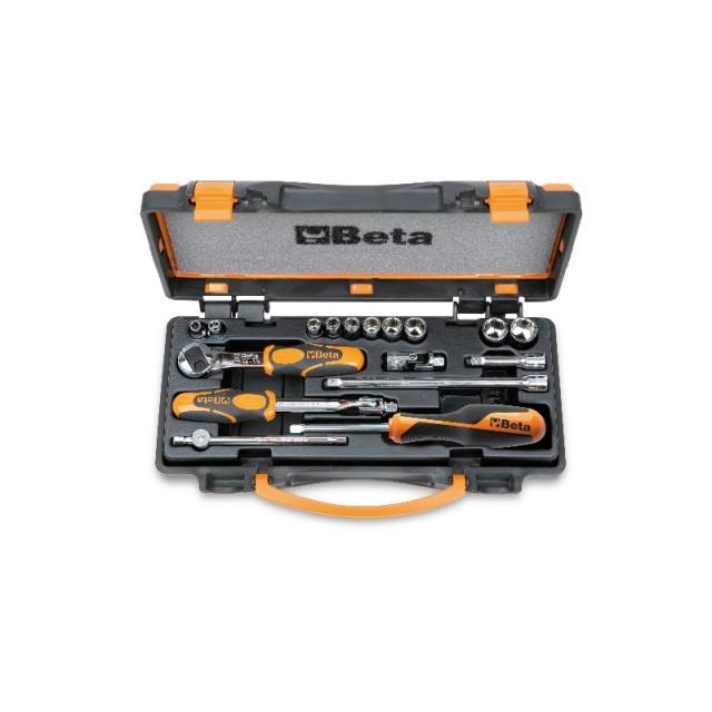 10 chiavi a bussola e 7 accessori in cassetta di lamiera - Beta 900AS/C10 - /MB-C17