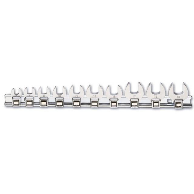 Serie di 10 chiavi a zampa di gallo (art. 910CF) su supporto - Beta 910CF/SB