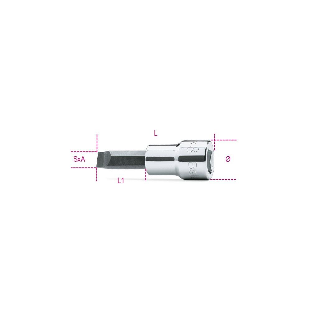 """Chiavi a bussola a giravite per viti con intaglio con attacco quadro 3/8"""" cromate - inserti bruniti - Beta 910LP"""