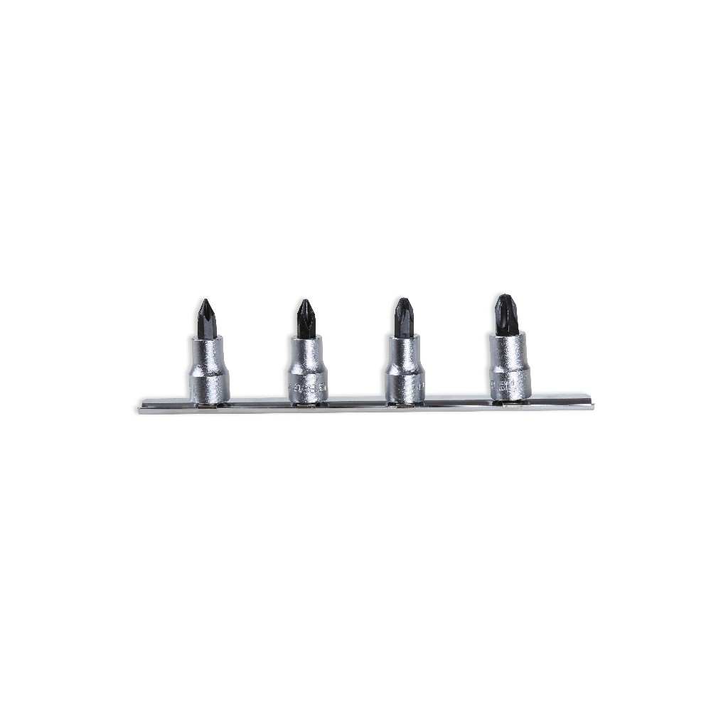 """Set of socket drivers for cross head Phillips® screws,  3/8"""" female drive, chrome plated - burnished inserts - Beta 910PH/SB4"""