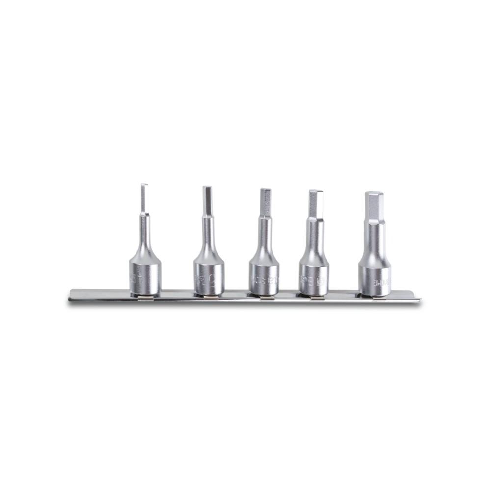 Serie di 5 chiavi a bussola maschio esagonale (art. 910ME) su supporto - Beta 910ME/SB