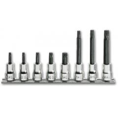 Serie di 8 chiavi a bussola a giravite per viti con impronta pentalobata (art. 910PT) su supporto - Beta 910PT/SB
