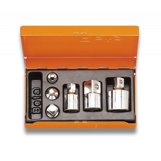 Serie di 6 raccordi per chiavi a bussola in cassetta di lamiera - Beta 902R/C6