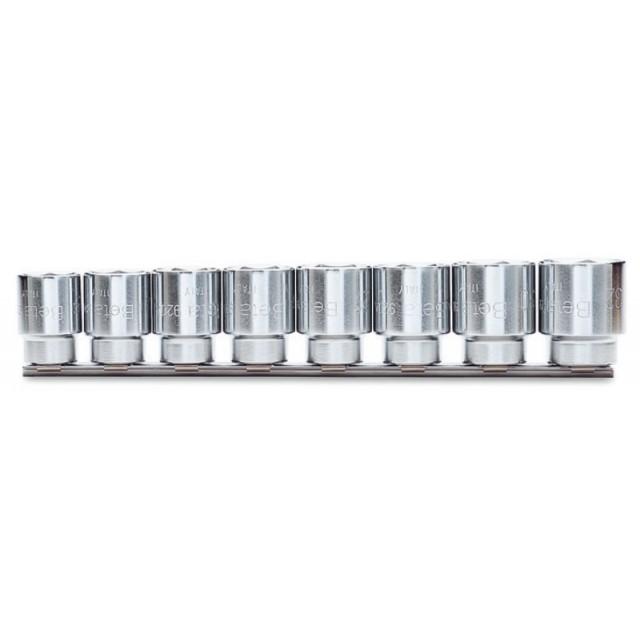 Serie di 8 chiavi a bussola a mano bocca esagonale (art. 920A) su supporto - Beta 920A/SB8