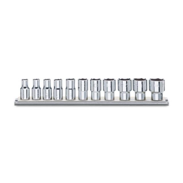 Serie di 11 chiavi a bussola a mano bocca poligonale (art.920AS) su supporto - Beta 920AS/SB11