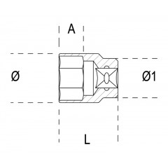 """Chiavi a bussola con attacco quadro femmina 1/2"""" bocca esagonale, cromate - Beta 920A/AS"""