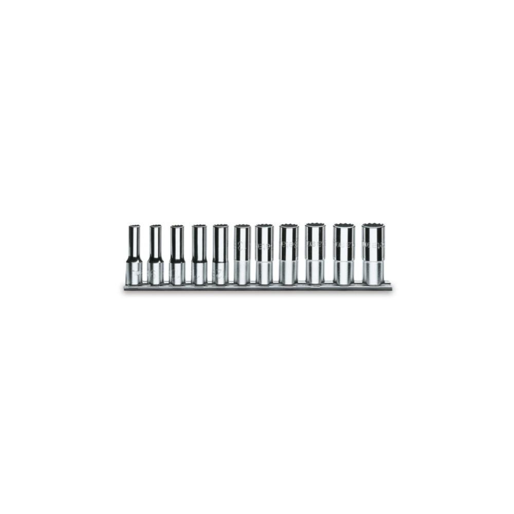 Serie di 11 chiavi a bussola a mano lunghe bocca poligonale (art. 920AS/L) su supporto - Beta 920ASL/SB11