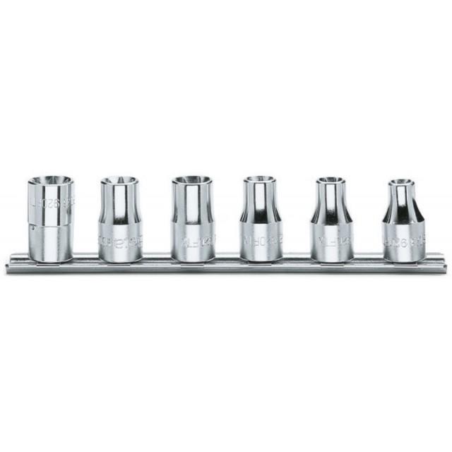 Serie di 6 chiavi a bussola a mano per viti con testa a profilo Torx  (art. 920FTX) con supporto - Beta 920FTX/SB