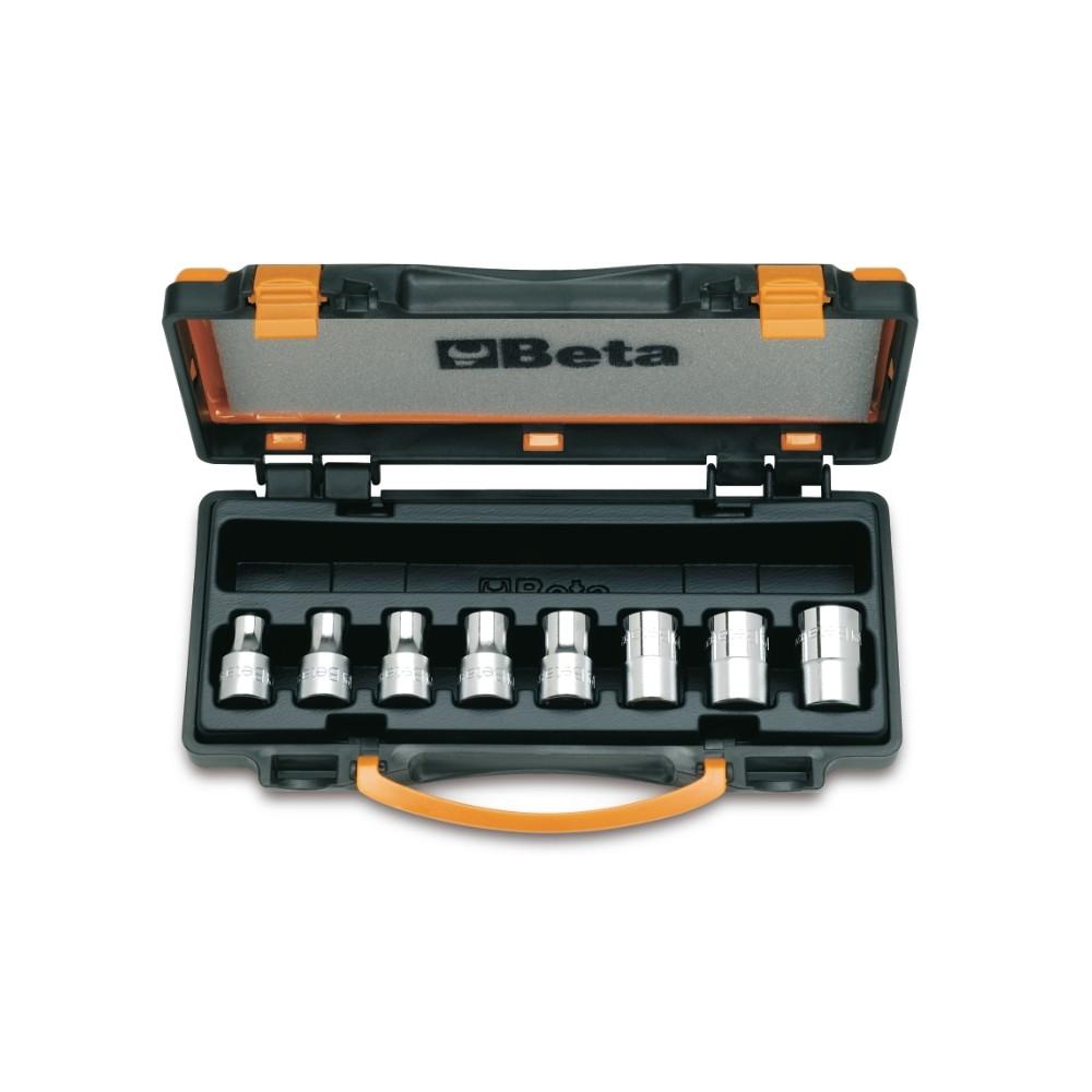 Serie di 8 chiavi a bussola a mano per viti con testa a profilo Torx  (art. 920FTX) in cassetta - Beta 920FTX/C