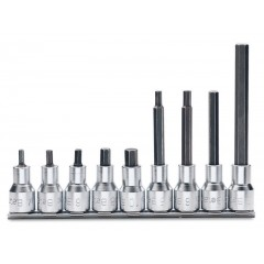 Serie di 9 chiavi a bussola maschio esagonale (art. 920PE) su supporto - Beta 920PE/SB