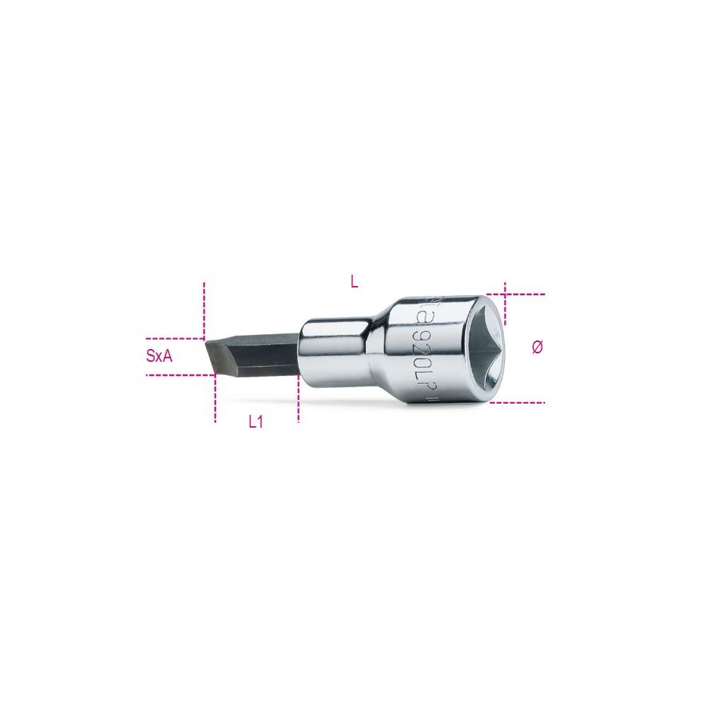 Csavarhúzó-dugókulcs hasítottfejű csavarokhoz, krómozott, barnított fej - Beta 920LP