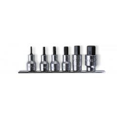 """Serie di chiavi a bussola maschio esagonale con attacco quadro femmina 1/2"""" cromate - Beta 920PE-AS/SB6"""