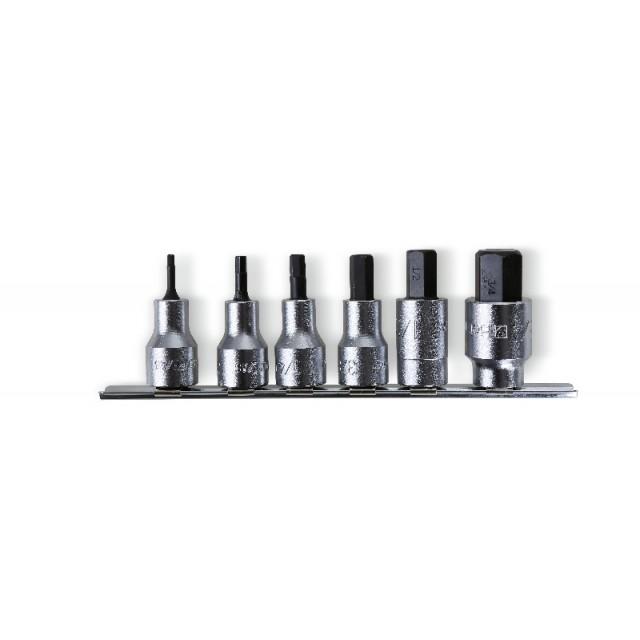 "Set of socket drivers  for hexagon screws,  1/2"" female drive, chrome-plated - Beta 920PE-AS/SB6"