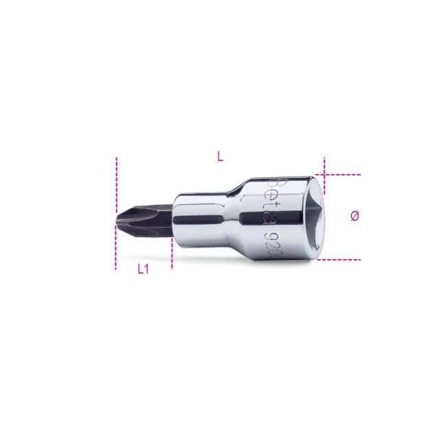 """Chiavi a bussola a giravite per viti con impronta a croce Philips  con attacco quadro 1/2""""    cromate - inserti... - Beta 920PH"""