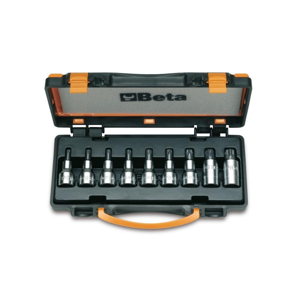 Serie di 9 chiavi a bussola maschio per viti con impronta Torx  (art. 920TX) in cassetta - Beta 920TX/C