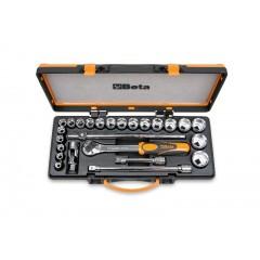 20 chiavi a bussola esagonali e 5 accessori in cassetta di lamiera - Beta 920.../C20...