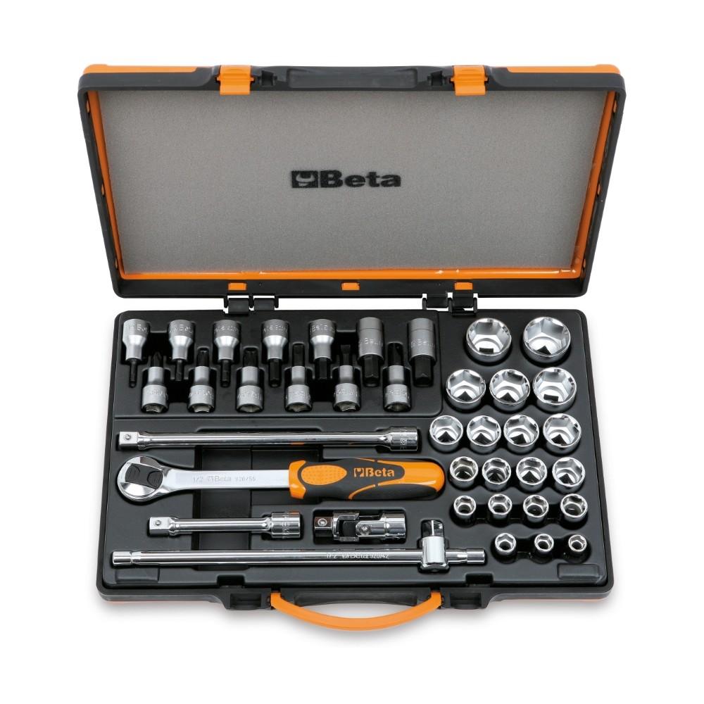 20 chiavi a bussola esagonali, 13 a giravite e 5 accessori in cassetta di lamiera - Beta 920.../C33