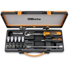 Assortimento di 6 inserti per avvitatori 6 chiavi a bussola 5 chiavi a bussola maschio e 4 accessori, per v... - Beta 920TX/C17