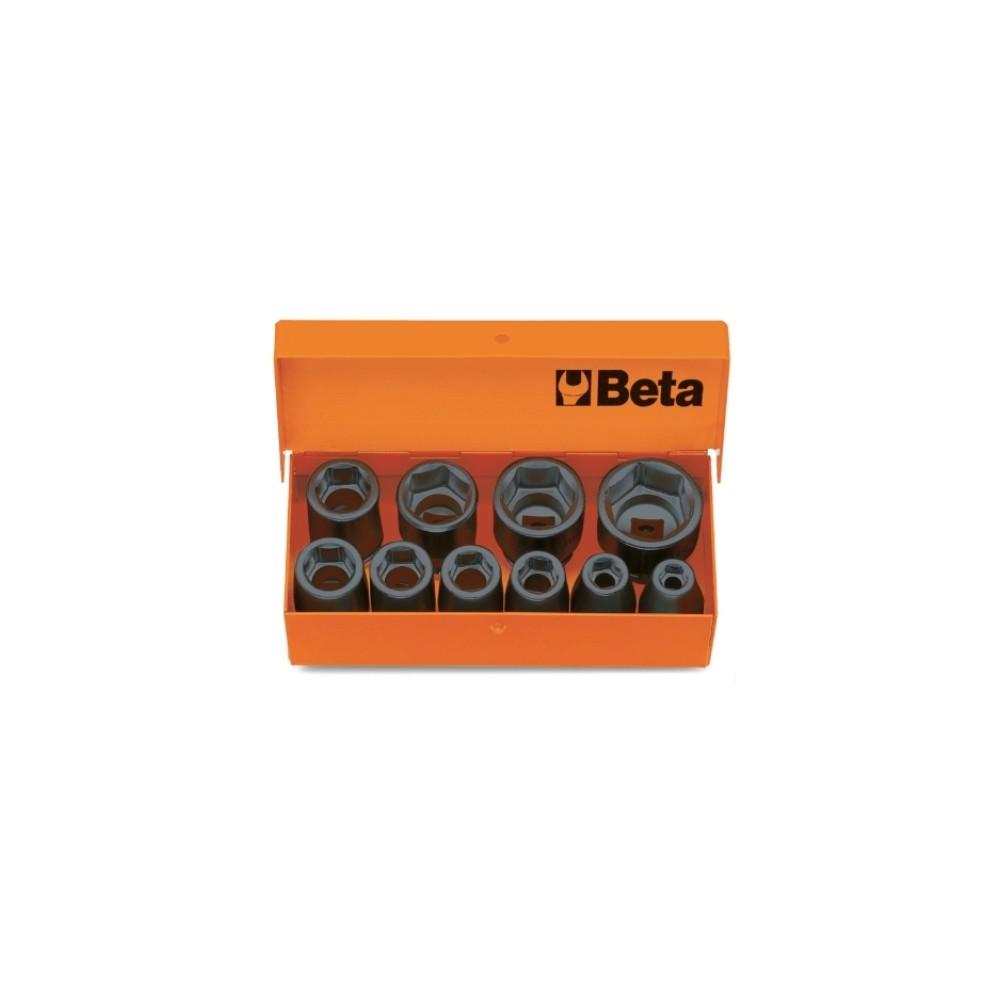 10 chiavi a bussola esagonali in cassetta di lamiera - Beta 710/C10