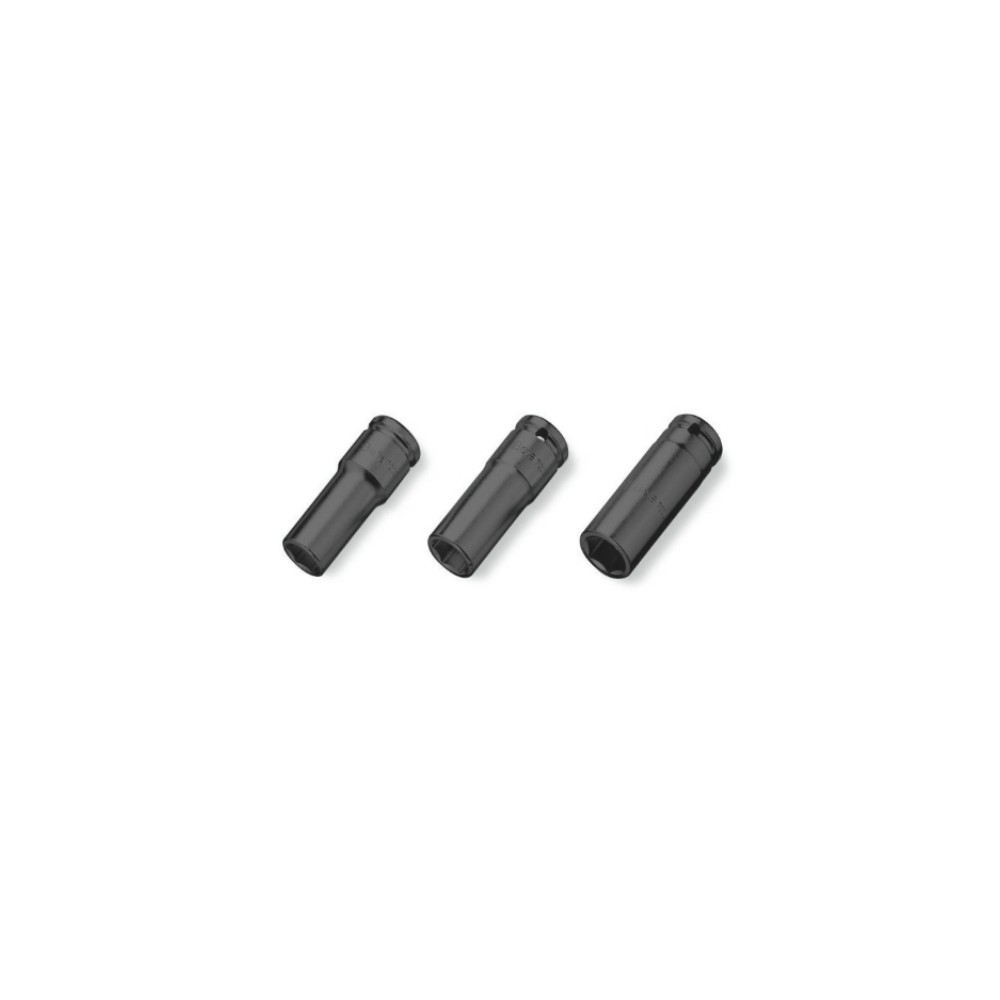 """Serie di chiavi a bussola con attacco quadro femmina 1/2"""" bocca esagonale serie lunga - Beta 720L/S3"""