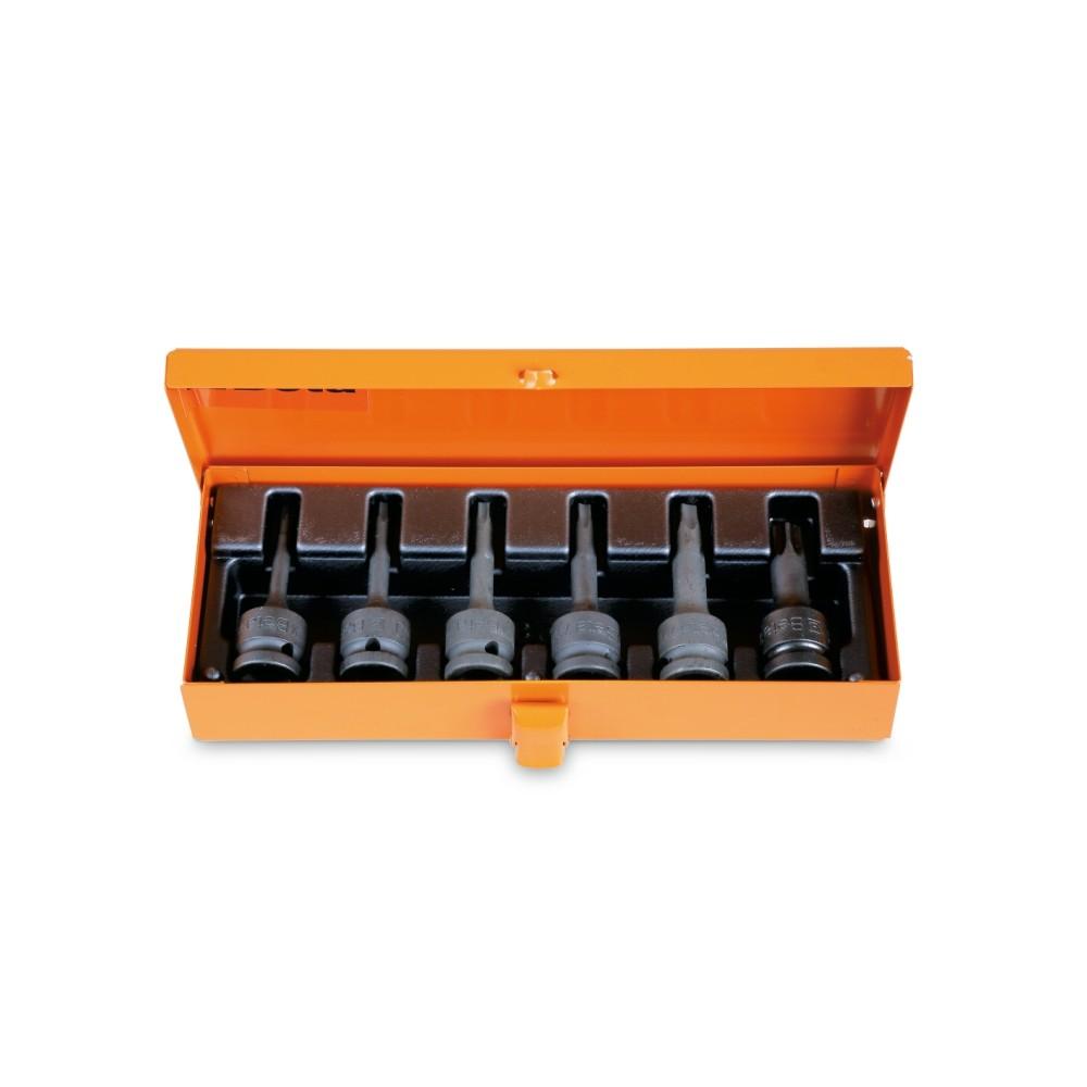 """Serie di chiavi a bussola maschio per viti con impronta Torx , con attacco quadro femmina 1/2""""     fosfatate... - Beta 720TX/C6"""
