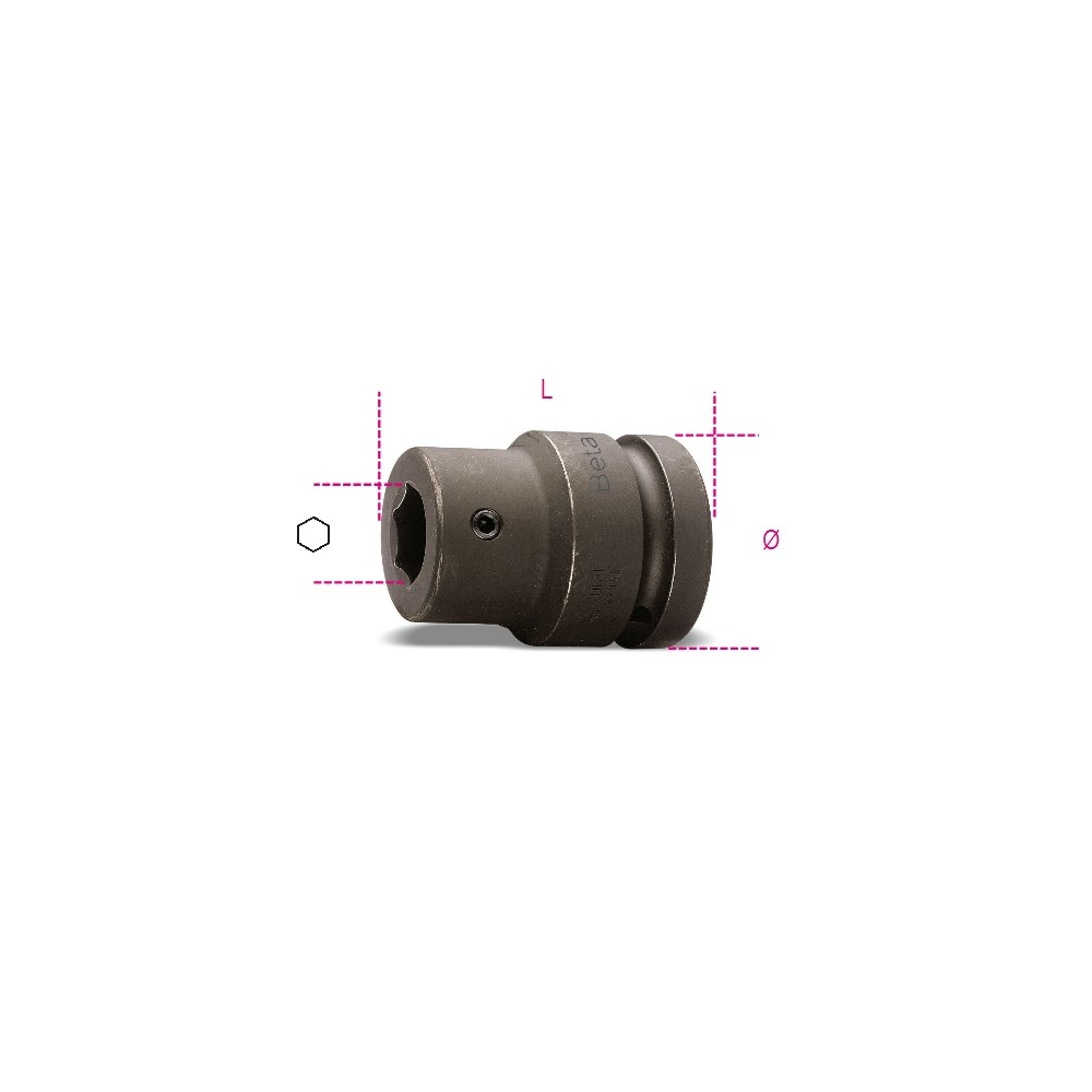 """Bussola portainserti con attacco quadro femmina 3/4"""" fosfatata - Beta 727PI/16"""