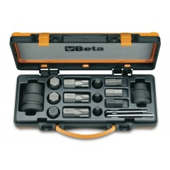 12 inserti maschio e 4 accessori in cassetta di lamiera - Beta 727/C16