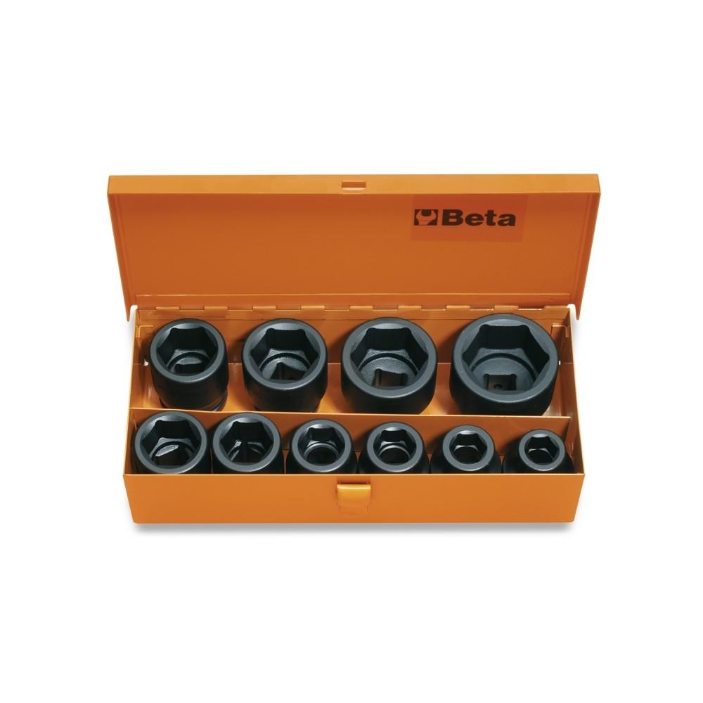 10 chiavi a bussola in cassetta di lamiera - Beta 728/C10