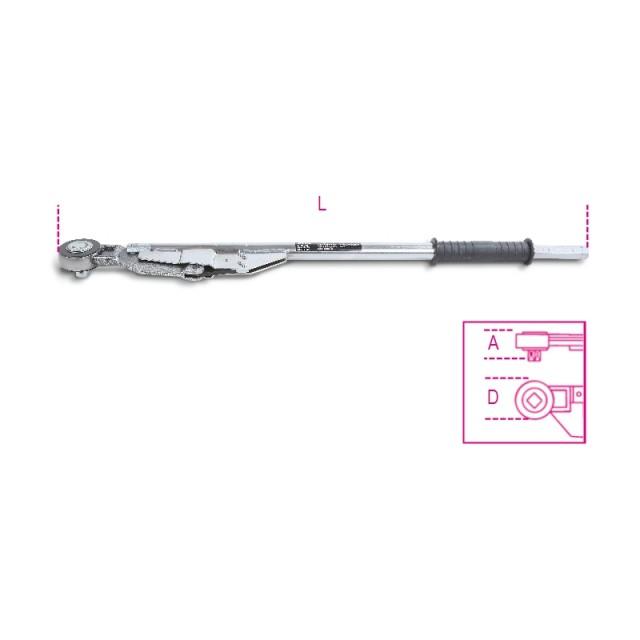 Chiavi dinamometriche a disinnesto con cricchetto semplice per serraggi destrorsi e sinistrorsi precisione di ser... - Beta 677