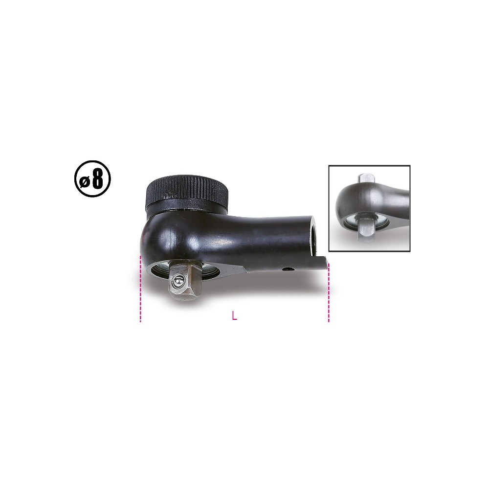Cricchetti reversibili per barre dinamometriche 604B/5 e 604B/10 - Beta 611