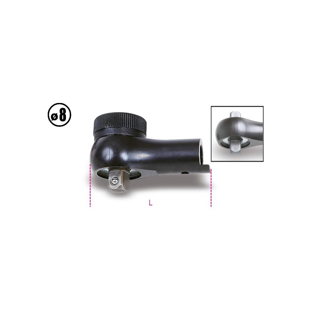 Głowica z dwukierunkowym mechanizmem zapadkowym do pokręteł dynamometrycznych model 604B/5 i 604B/10, zabierak 8 mm - Beta 611
