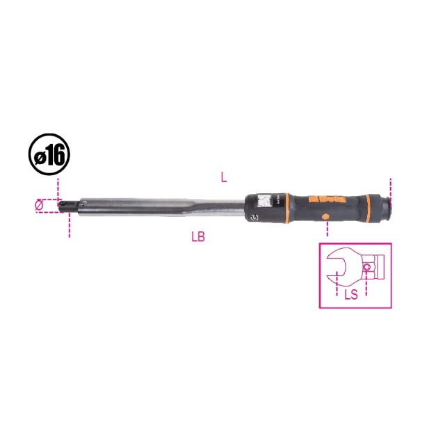 Barre dinamometriche a scatto per serraggi destrorsi e sinistrorsi precisione di serraggio ± 3% - Beta 668N