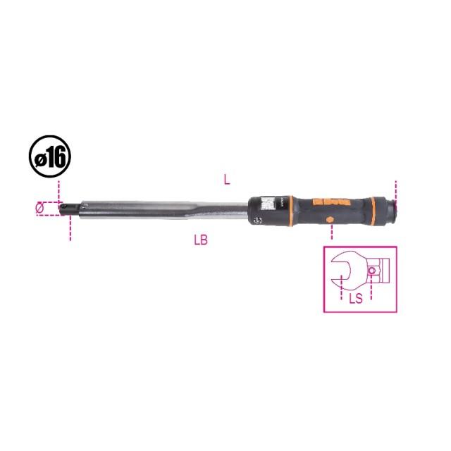 Clé dynamométrique à attachement à déclenchement utilisable pour serrage droite ou gauche Précision de serrage : ± 3% - Beta