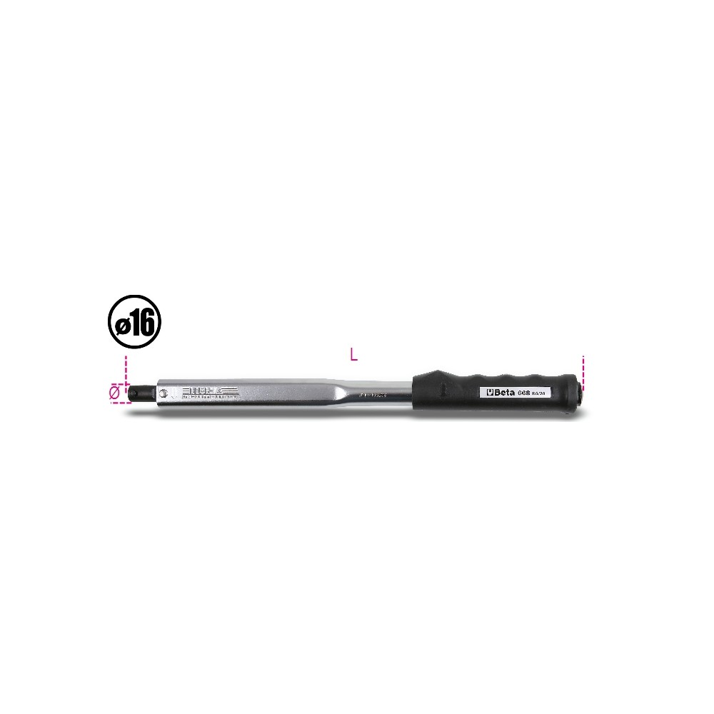 Click-type torque bar, ungraduated for right-hand and left-hand tightening torque accuracy: ± 4% (to be used with items 680 -