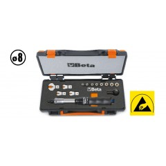 1 nyomatékkulcs 604B/5, 1 irányváltós racsni, 8 hatlapú dugókulcs és 4 villáskulcs - Beta 671B/C5