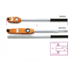 Direct reading torque wrenches for right-hand and left-hand tightening torque accuracy: ±4% - Beta 596 - 598