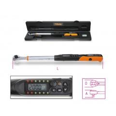 Chiave dinamometrica elettronica a lettura diretta adatta a serraggi destrorsi e sinistrorsi precisione di serraggio ± 2%/± 3