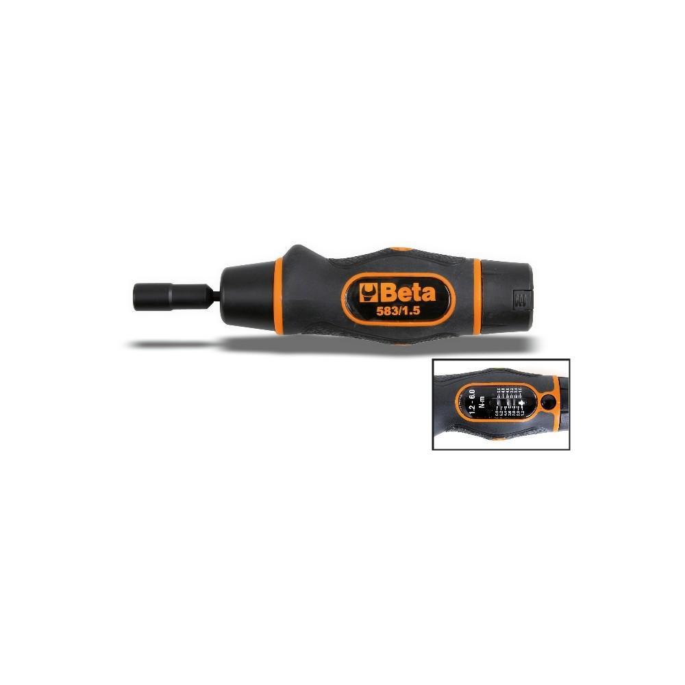 Giravite dinamometrico a slittamento adatto a serraggi destrorsi, precisione di serraggio +/-6% - Beta 583
