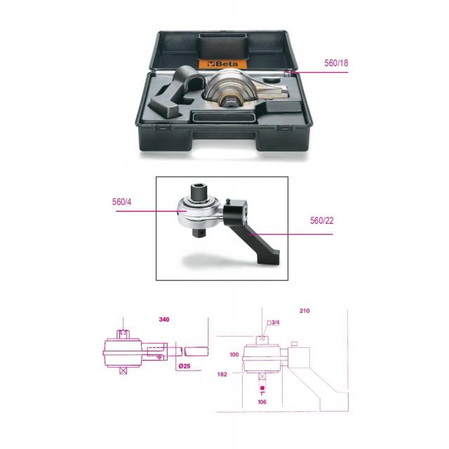 Moltiplicatore di coppia destrorso/sinistrorso e accessori rapporto 5: 1  con