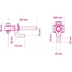 Wzmacniacz momentu o przełożeniu 5:1, z dwoma ramionami oporowymi - Beta 561/1