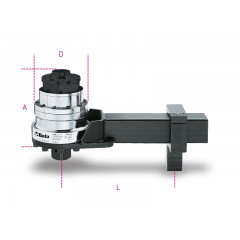 Torque multiplier for right-hand and left-hand tightening, ratio 25:1, with anti