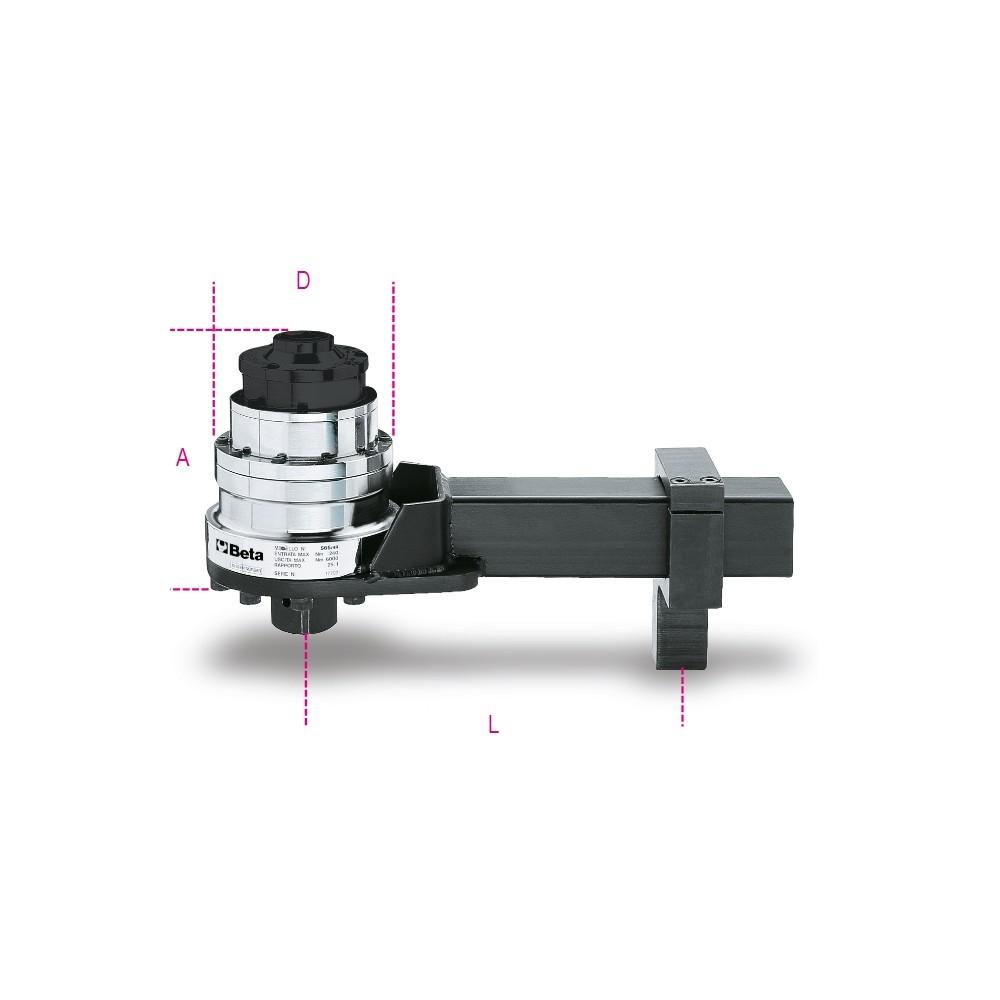 Moltiplicatore di coppia destrorso/sinistrorso rapporto 25: 1  con dispositivo antiritorno - Beta 565/4R